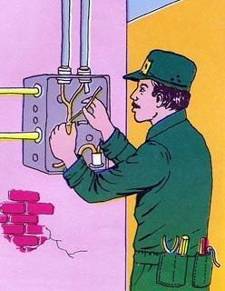 Electricista postal dia del trabajo for Trabajo de electricista en malaga